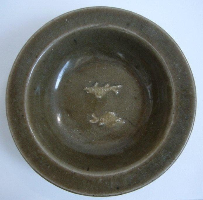 Longquan Plate with Fish Decoration