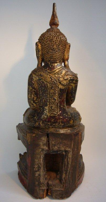 Burmese Wooden Buddha Shan State 18th Century