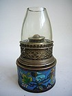 Email Cloisonné Chinese Opium Lamp Late Qing