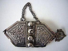 Rare Silver Boys Belt Hook from Oman