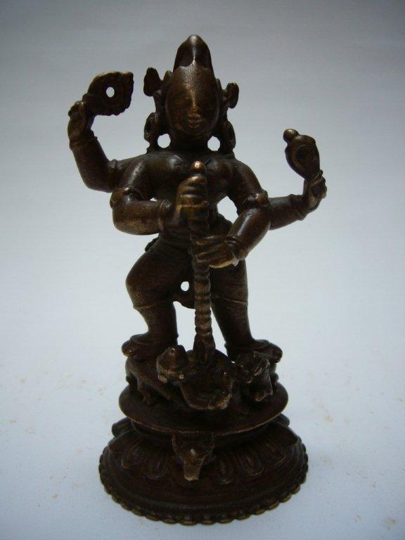 Indian Bronze Durga 17th/18th Century