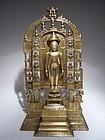 Rare and Large Indian Jain Bronze Shrine