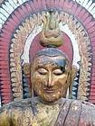 Painted Teakwood Buddha from Sri Lanka