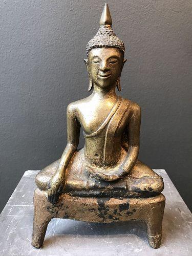 Bronze Buddha Laos 17th Century