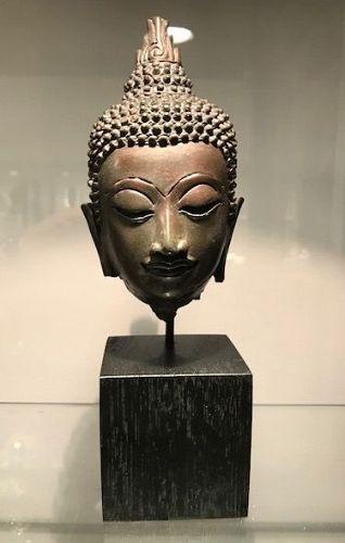 Thai Bronze Buddha Head 17th/18th Century