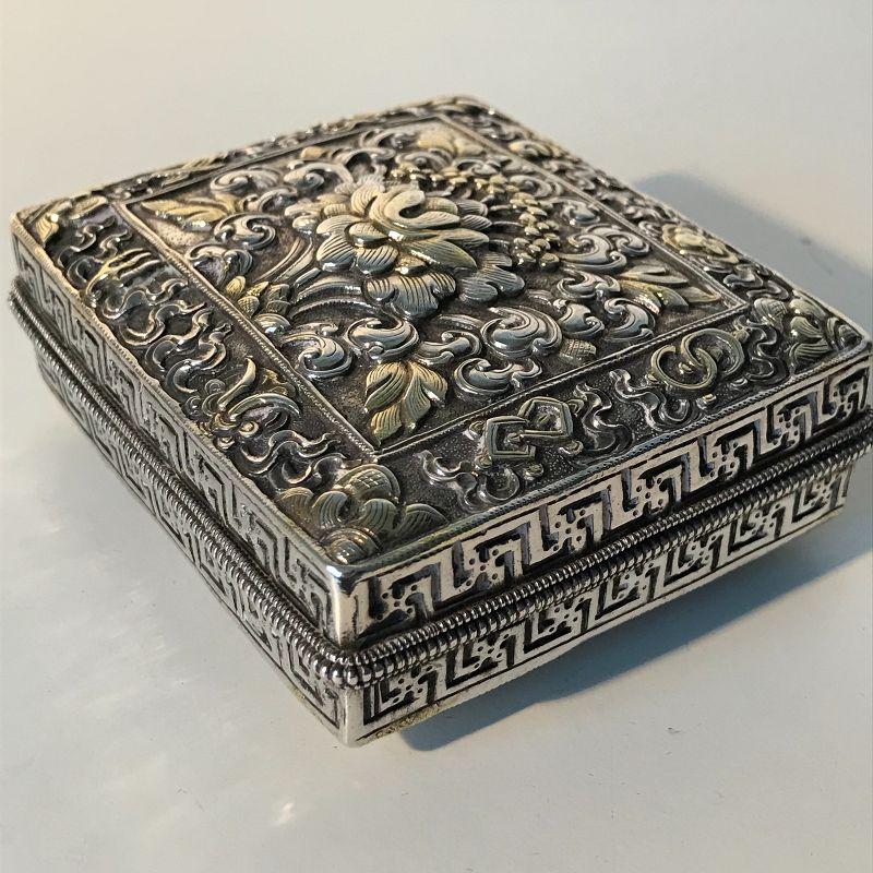 Gilded Siver Box Tibet