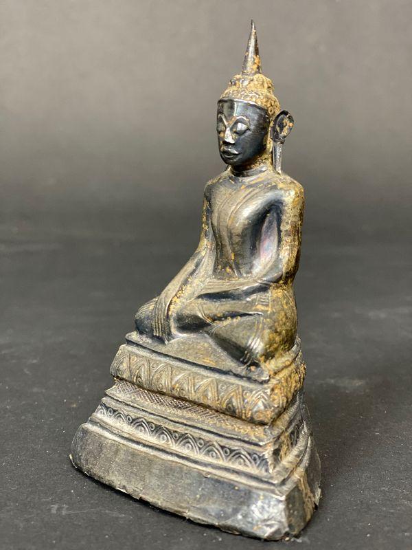 Silver Buddha, Burma, 18th/19th century.