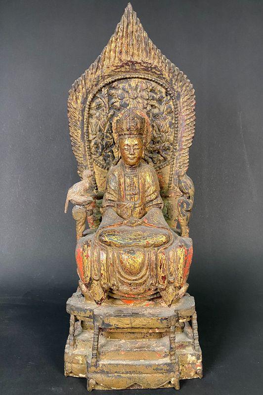 Gilt Wood Guanyin, Ming Dynasty.