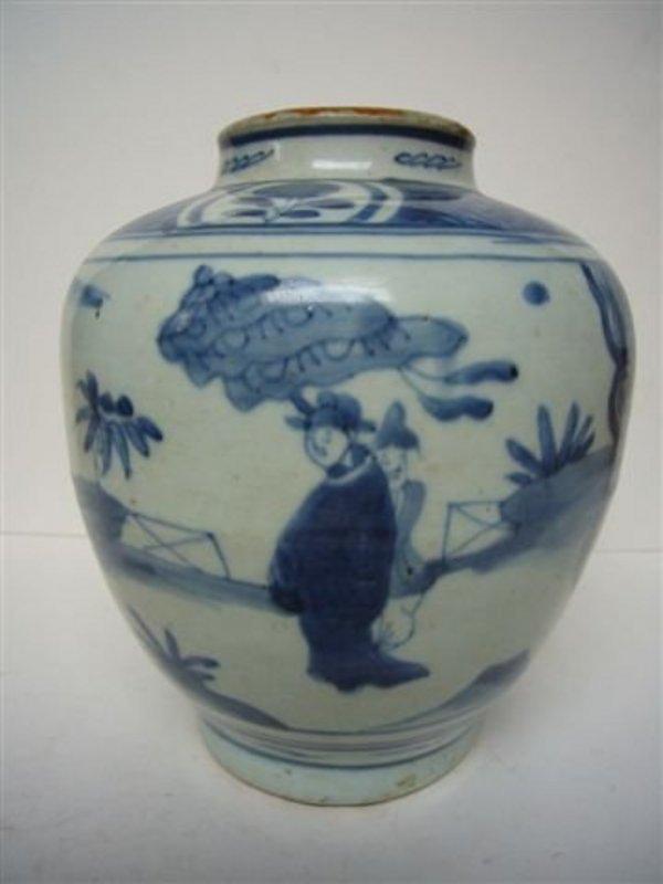 Ming Transitional Storage Jar
