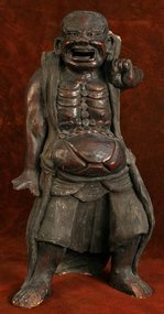 Kamakura Period Sculpture of a Buddhist Guardian King