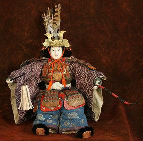 Rare Edo Period Musha Ningyo of Minamoto no Yoshitsune