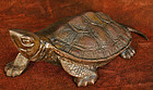 Late Edo Period Japanese Bronze Turtle