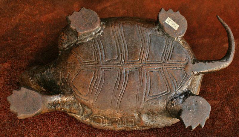 Late Edo Period Japanese Bronze Turtle
