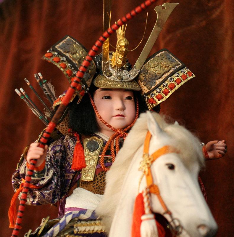 Japanese Doll of a Samurai on a Horse
