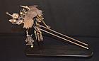 Rare Japanese Edo Period Silver and Gilt Hair Pin