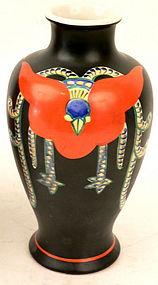 Japanese Satsuma Deco-Style Phoenix Vase by Kinkozan