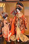 Meiji Period Oiran Courtesan and Attendant Dolls