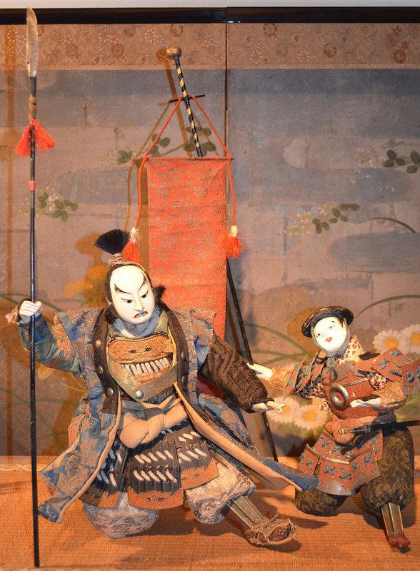 Rare 18th Century Kato Kiyomasa and Attendant Dolls