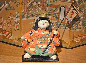Fine 19th Century Ningyo of Momotaro the Peach Boy