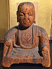 Rare Japanese 7th Century Asuka Period Buddha of Paloma Wood