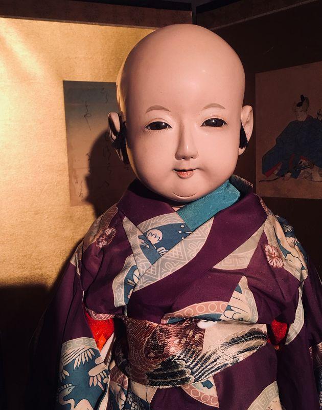 Meiji Period Daki Ningyo in Royal Purple