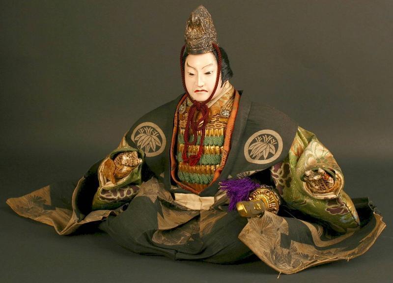 Japanese Musha Ningyo (Boys Day Doll) of a Court Figure