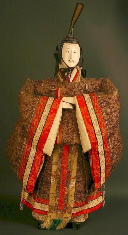 Japanese Isho Ningyo of Tenjin, God of Knowledge Doll
