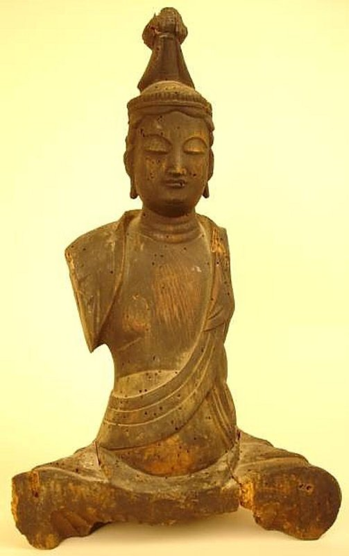 12th Century Sculpture of Kannon, Goddess of Compassion