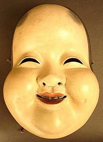 19th Century Japanese Okame, Goddess of Mirth Mask