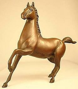 Japanese Antique Bronze Sculpture of a Galloping Horse