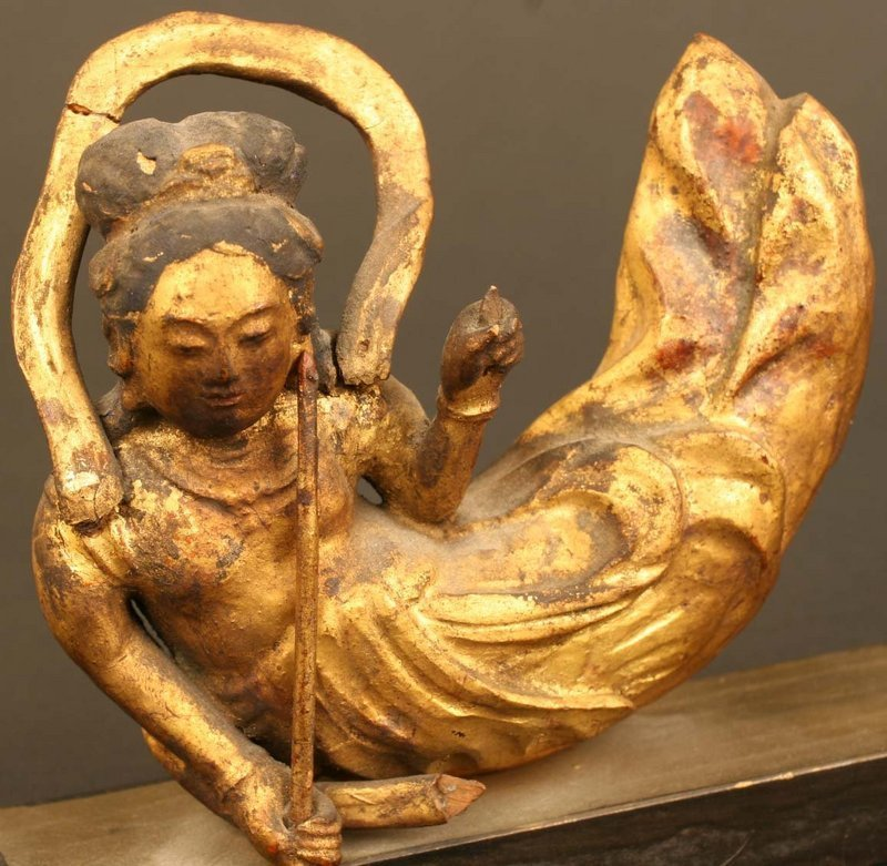 Pair of Exquisite Gilded 18th Century Japanese Angels
