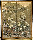 19th Century Japanese Rimpa Style Nature Screen