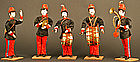 Extremely Rare Russo-Japanese War Musicians,Set of Five