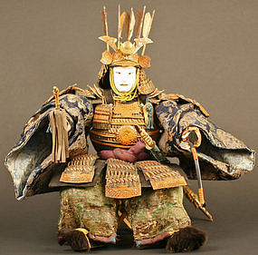 Late 18th Century Japanese Samurai Yoshitsune Doll