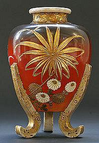 Spectacular Satsuma Vase by Kinzan I, Meiji Period