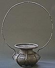 Rare Edo Period Tea Ceremony Peony Basket with Box