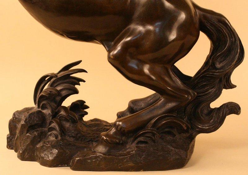 Spectacular Japanese Bronze Horse, Meiji Period