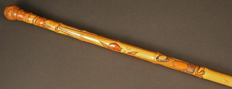 Japanese Antique Walking Stick, Japanese Cane
