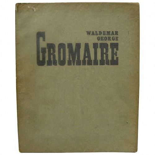 Marcel Gromaire 1928 limited edition French book on modernist artist