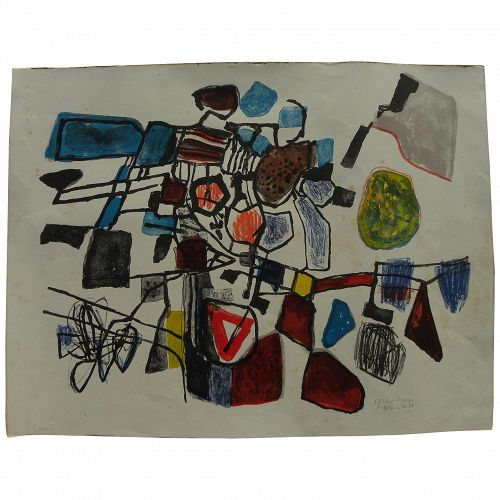 CORNEILLE (1922-2010) pencil signed lithograph 1961 print by the important Dutch CoBra artist