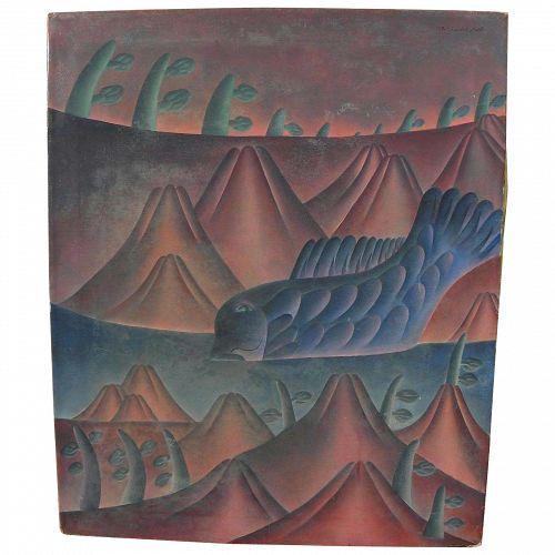 YASUSHI SAITO (20th century) contemporary fantasy modern painting