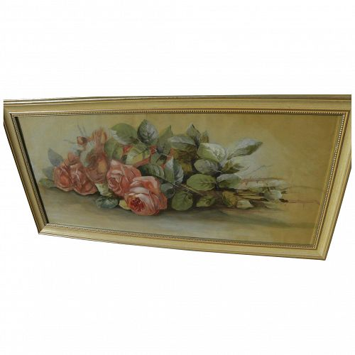 Vintage watercolor painting of roses