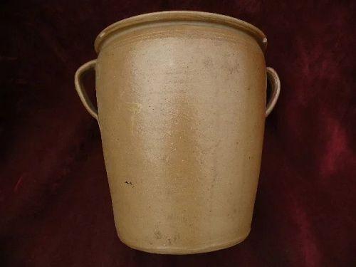American folk art stoneware two gallon crock