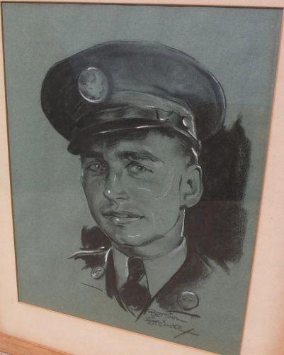 BETTINA STEINKE (1913-1999) original charcoal drawing portrait by noted Southwest artist illustrator�