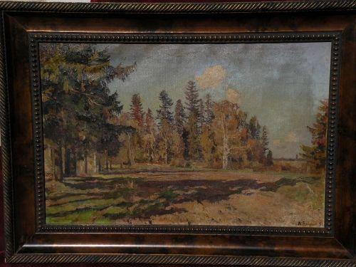 LEONID IANOUSH (1897-1978) Russian impressionist landscape painting