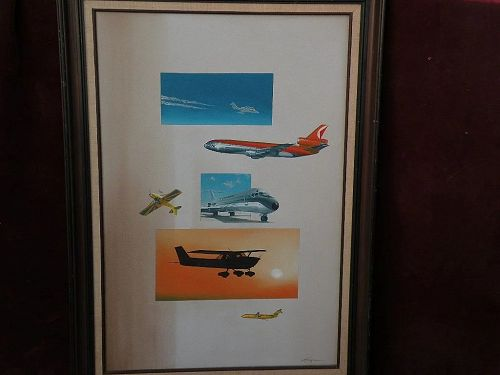 CRAIG KODERA (1956-) fine aviation art original oil painting of aircraft from Cessna to jumbo jet by recognized artist