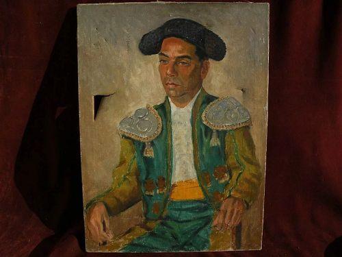 JOSEPH WEISMAN (1907-1994) California impressionist art oil painting of matador
