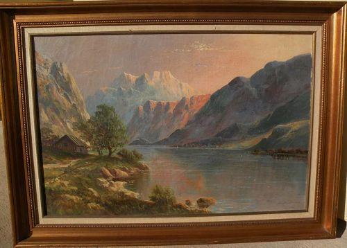 European landscape art oil painting signed DAVID DUNDAS