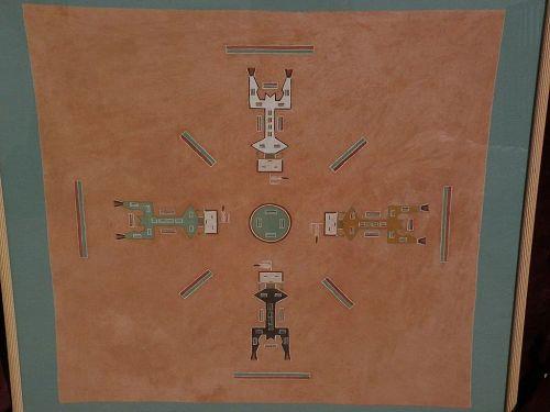 Southwestern art yei style native American painting on linen