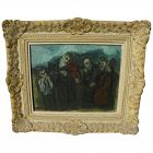 MAX BAND (1900-1974) Judaica painting of Jewish musicians by School of Paris well listed artist